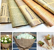 Retro English Newspaper Packaging Kraft Paper(Assorted Colours)(1 Pc)