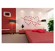 ZOOYOO® 12Pcs/Lot PVC 3D Magnetic Butterfly red Sticker Home Wall Decorative Stickers DIY wall sticker home decor