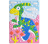EVA Mosaic Crystal 3D Stickers Children Hand DIY Puzzle Duck Corythosaurus Toy