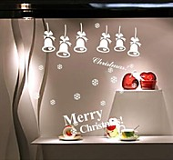 zooyoo® bonito pvc estilo de Natal branco removível colorida de adesivos de parede adesivos de parede de venda quente para a decoração da