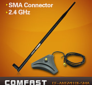 COMFAST® CF-ANT2410I-SMA Super High Gain WIFI Antenna 2.4GHz Base RP-SMA Connector-Black