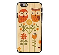 Owls Style Plastic Hard Back Cover for iPhone 6