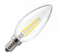 ON Lâmpada Vela Regulável/Decorativa E14 2 W 200LM LM 2800-3200 K Branco Quente 2PCS COB AC 220-240 V C