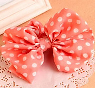 Korean Solid Dots Big Bow Rabbit Ears Elastic Hair Ties
