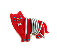 Red Kitty Cartoon Earphone Cable Wire Cord Organizer Cable Winder