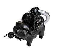 Duo Ji Mi ® Ebony Pig with Wealth Model Keychains Toys