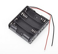 4 Packs Standard Battery Box Slot Holder Case for AA 2A Batteries Stack 6V 4pcs