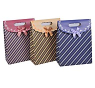 Coway 16.5*12.5*6 Fashion Fresh Stripes Party Paper Gift Bag(Random Color)