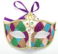 Elegant Purple Diamond Halloween Party Half-face Mask