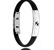 Men's Fashion Personality Titanium Steel Silicone Twelve Constellation Sagittarius Bracelets