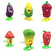 6pcs Gemüse Wind-up-Spielzeug (zufällige Farbe)