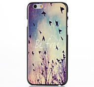 Be Free Pattern Plastic Hard Cover for iPhone 6