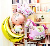 Baby Moon Hobbyhorse Aluminium Membrane Baby Shower Balloon Set