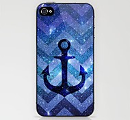 Anchor in Blue Stars Waves Case for iPhone 4/4S