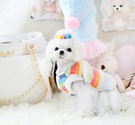 Pet Fashion Lovely Sweet Rainbow Coat for Pets Dogs (Assorted Sizes)