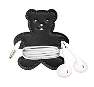 Rabbit And Bear Cartoon Earphone Cable Wire Cord Organizer Cable Winder