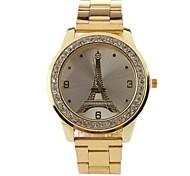 Women's Fashion Tower Rhinestones Steel Belt Watch