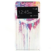 Colorful Ink Pattern One Window Clamshell PU Leather Full Body Case for Sony Xperia Z2