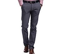 Lesmart Hommes Mince Pantalon Gris - DW13448