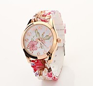 Women's Butterfly Printed Round Dial Floran Band Elegant Dress Watch C&D25