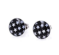 Fashion White Stars Stainless Steel Stud Earrings