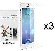 3 x Anti-Glare Matte Screen Protector with Cleaning Cloth for iPhone 6