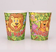 Coway 50PCS Jungle Party Birthday Party Disposable Paper Cup Cartoon Environmental Protection