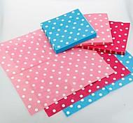 White Dots Pattern Napkins - Set of 20 (More Colors)