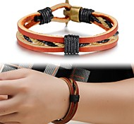 Personality Fashion Leather Men's Bracelet