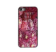 Personalized Gift Blooming Flower Design Metal Case for iPhone 5/5S