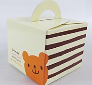 Cute Bear Paper Egg Tarts Food Package Take-out Box