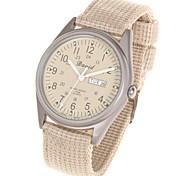 Men's Military Glow-in-the Dark Water Resistant Round Canvas Watchband Quartz Wrist Watch(Assorted Color) (1 x SR626SW)