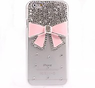 Pink Bowknot Design PC Hard Case for iPhone 6 Plus