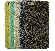 Hollow Design Pattern Hard Cover for iPhone 6  (Assorted Colors)