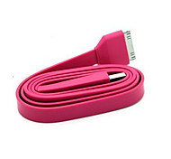 Cable de datos USB 2.0 para iPhone iPad y iPod Tipo Pink Flat (1,0 m)