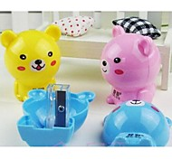 Cute Bear Shape Manual Sharpener(Random Color)