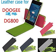 PU Leather Colorful Flip Leather Case for DooGee DG800 Up and Down Smartphone 4-color