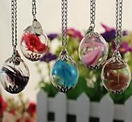 Halskette Feder Halskette wollen Flaschen Kristallkugel Halskette Pullover (Farbe sortiert)