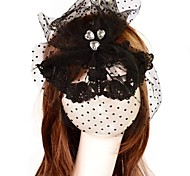 Fashion Crystal Heart Pattern Lace Party Mask