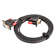 CYK CV05-003 2M 6.56FT VGA 15 Pin Male to VGA 15 Pin Female Computer Connection Cables