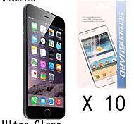 [10 Unidades] Protector de pantalla anti-huella digital de alta calidad para el iphone 6 más