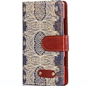 Decorative Design Pattern Oxhide Character Retro PU Leather Case for Nokia 930