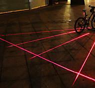 UNGROL 5 Red Straight Lines 1 Laser Module 6 LED 6 Flash Mode Black Bike Warning Laser Light