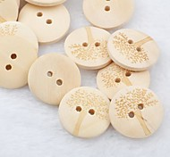 Tree Pattern Scrapbook Scraft Sewing DIY Wooden Buttons(10 PCS)
