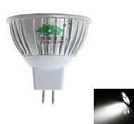 3W Spot LED MR16 3 LED Dip 280-300 lm Blanc Naturel Décorative DC 12 V