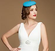 Women's/Flower Girl's Wool Headpiece - Wedding/Casual/Office & Career/Outdoor Hats