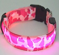 Cat / Dog Collar LED Lights Green / Blue / Pink / Yellow Nylon