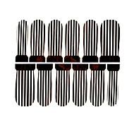 12PCS Black&White Stripe Watermark Nail Art Stickers C2-013