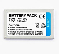 890mAh batería de la cámara digital de np-200 para su caso xt minolta biz / xt / xg