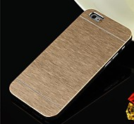 Brushed Aluminium Chrome Hard Case for iPhone 6 (Assorted Colors)